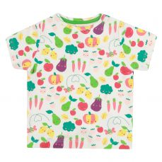 Piccalilly Grow Your Own All Over Print T-Shirt In White