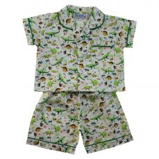 Powell Craft Dinosaur Short And Top Pyjama Set