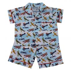 Powell Craft Vintage Plane Shorts And Top Pyjama Set