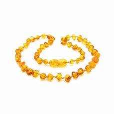 Nibbling Amber Teething Necklace Lemon