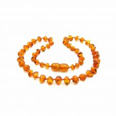Nibbling Amber Teething Necklace Cognac