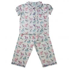 Powell Craft Unicorn Short Sleeved Top Girls Pyjama