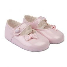 Early Days Baypod Girls Pram Shoe Pink B616