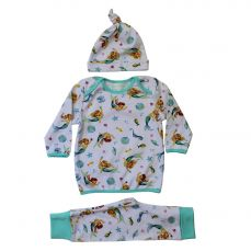 Powell Craft Toddler Mermaid Print Cosy Pyjama And Hat Set