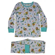 Powell Craft Mermaid Print Cosy Pyjamas