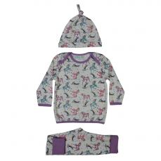 Powell Craft Toddlers Unicorn Print Cosy Pyjama And Hat Set