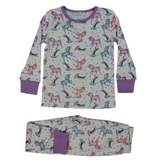 Powell Craft Unicorn Print Cosy Pyjamas