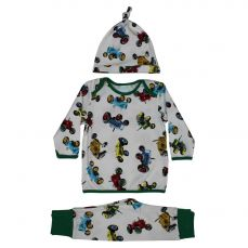 Powell Craft Toddler Tractor Print Cosy Pyjama And Hat Set