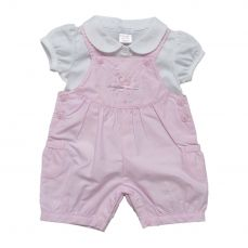 Amore By Kris X Kids Girls Summer Dungaree And Top Song Bird 8004