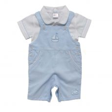 Amore By Kris X Kids Boys Summer Dungaree Set Little Sailor 8015