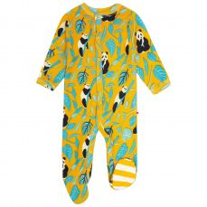 Piccalilly Panda Footed Sleepsuit
