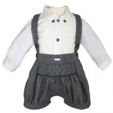 Abella Winter Boys Spanish Dungaree Grey & Ecru 1010