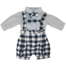 Abella Winter Boys Spanish Dungaree & Shirt Navy 1022