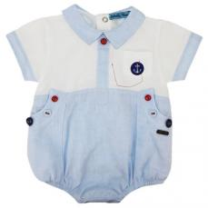 Abella Summer Sailor Romper Pale Blue/White ABS9053