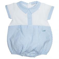 Coco Boys Summer Romper Blue & White CCS5528