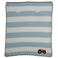 Powell Craft Hand Knitted Pram Blanket