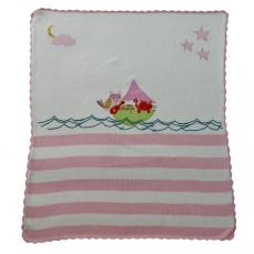 Powell Craft Owl & The Pussycat Pram Blanket