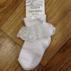 Pex White Poppy Lace Sock