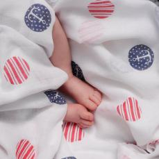 Piccalilly Sailor Spot Muslin Swaddle