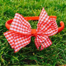Little Annie Bets Red Gingham Headband