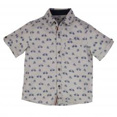 Little Lord & Lady Little Treasure Arlo Bespoke Bike Print Shirt