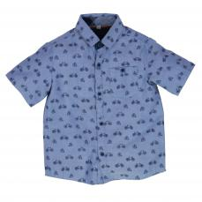 Little Lord & Lady Arlo Bespoke Bike Print Shirt Blue