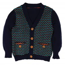 Little Lord & Lady Little Treasure Kenneth Herringbone Cardigan