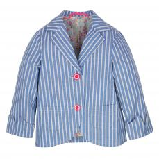 Little Lord & Lady Maddie White Stripe Blazer