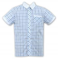 Sarah Louise Boys Summer Check Shirt 010710
