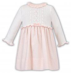 Sarah Louise Winter Peach And Ivory Dress 011706