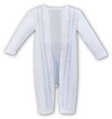 Dani By Sarah Louise Knitted All In One White/Blue D09252