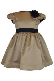 Little Lord & Lady Diana Gold Satin Dress