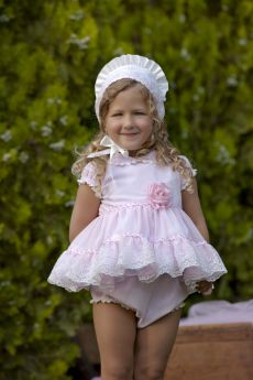 5492d31a3299 Bea Cadillac 'Leiden' Baby Spanish Dress With Panties & Bonnet 184 | Audrey  Mansell