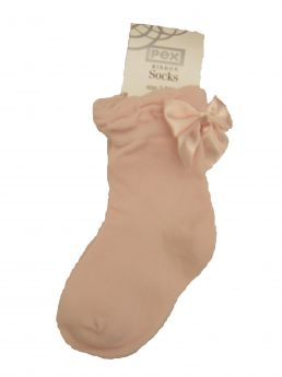 Pex Pink Bow Ankle Sock