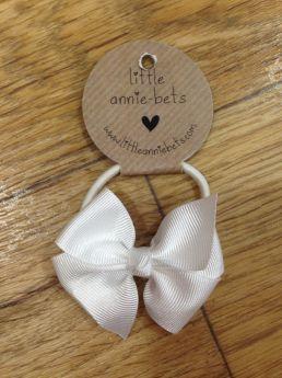 Little Annie Bets White Pinwheel Bow Hair Tie 44bc11eaf17