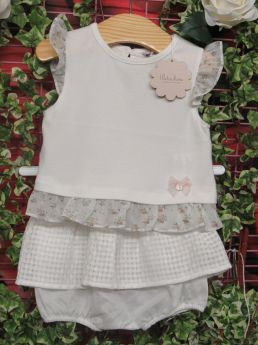 176bac7cd Patachou Girls T-shirt & Bloomer Set Cream | Audrey Mansell