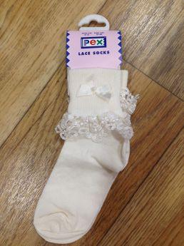 5ff235386a6d Pex Willow Ivory Lace Socks