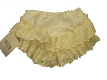 Pex Frilly Bum Pants Ivory
