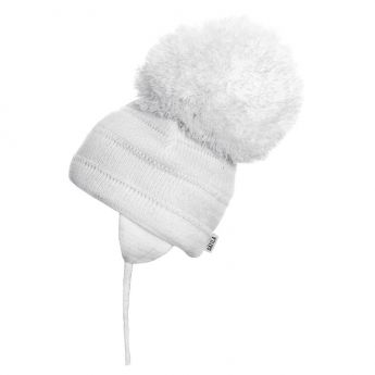 Sätila Big Pom-pom Hat Tuva White