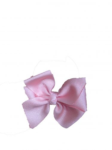Little Annie Bets Baby Pink Pinwheel Bow Hair Tie
