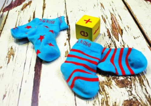 Blade & Rose Atol Blue And Red Socks: 0-6 months