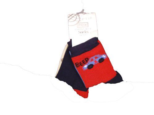 Pex Boys 2 Pack Socks Beep Beep: 3-5.5/12-24 months