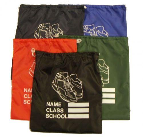 School Sandshoe Bags: Black