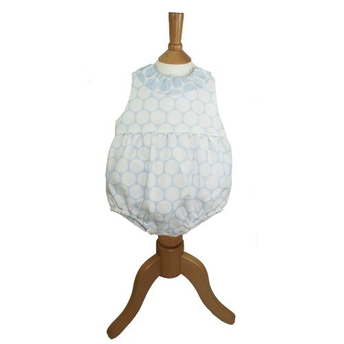 05eb0131b Abella Girls Blue And White Romper 8522