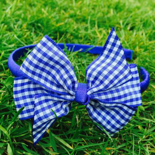 Little Annie Bets Royal Gingham Headband