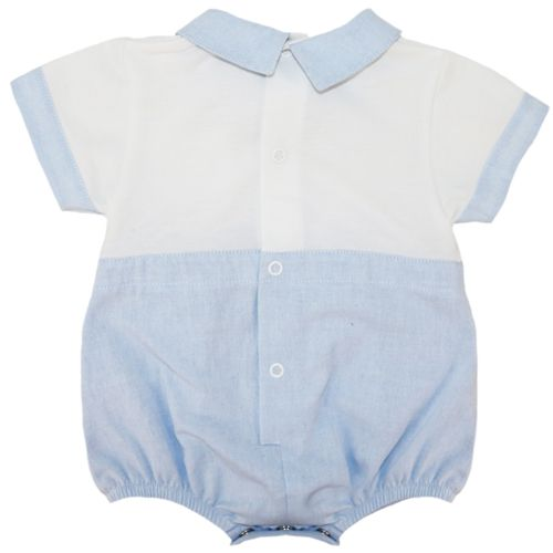 b0cf5af42 Abella Summer Sailor Romper Pale Blue White ABS9053