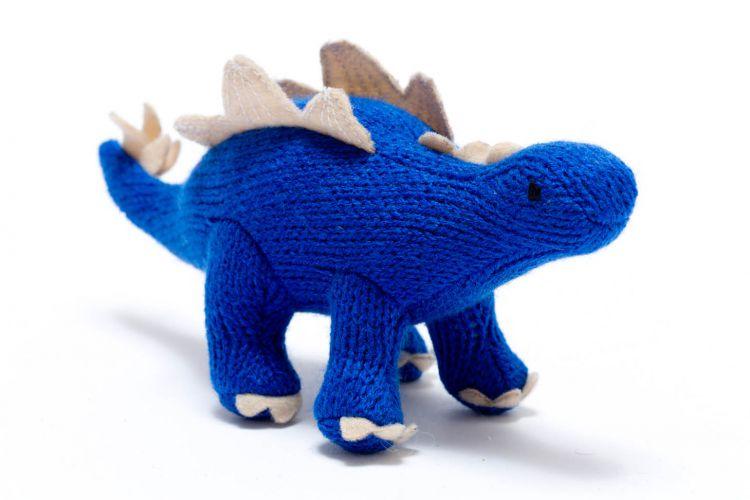 Mini Dinosaur Knitting Pattern : Best Years Knitted Mini Stegosaurus Audrey Mansell